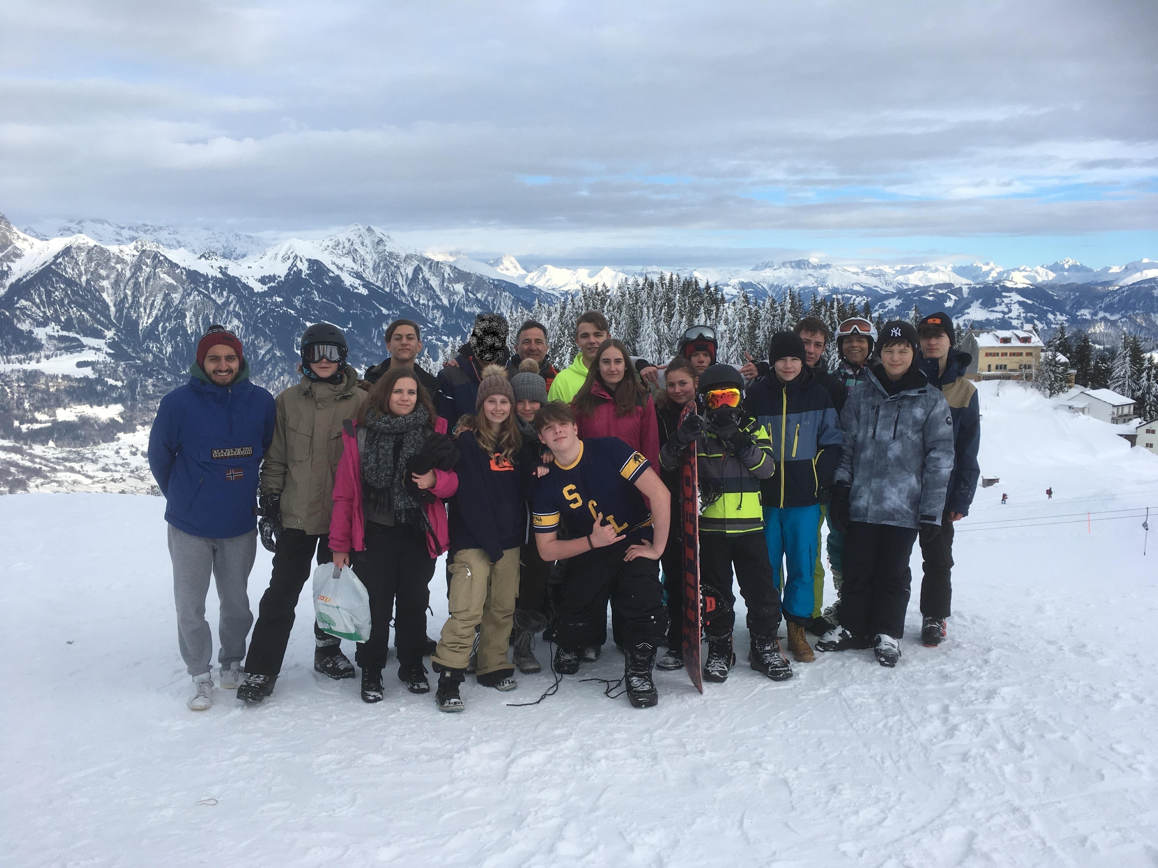 Gruppenfoto Schnee-Weekend 2019